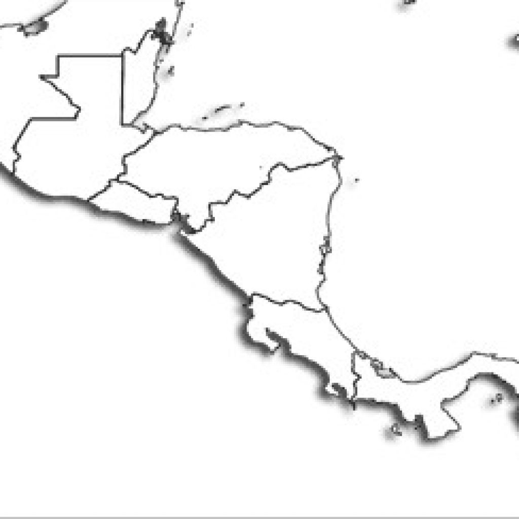Blank Central America Map Printable Maps regarding Printable Map Of Central America