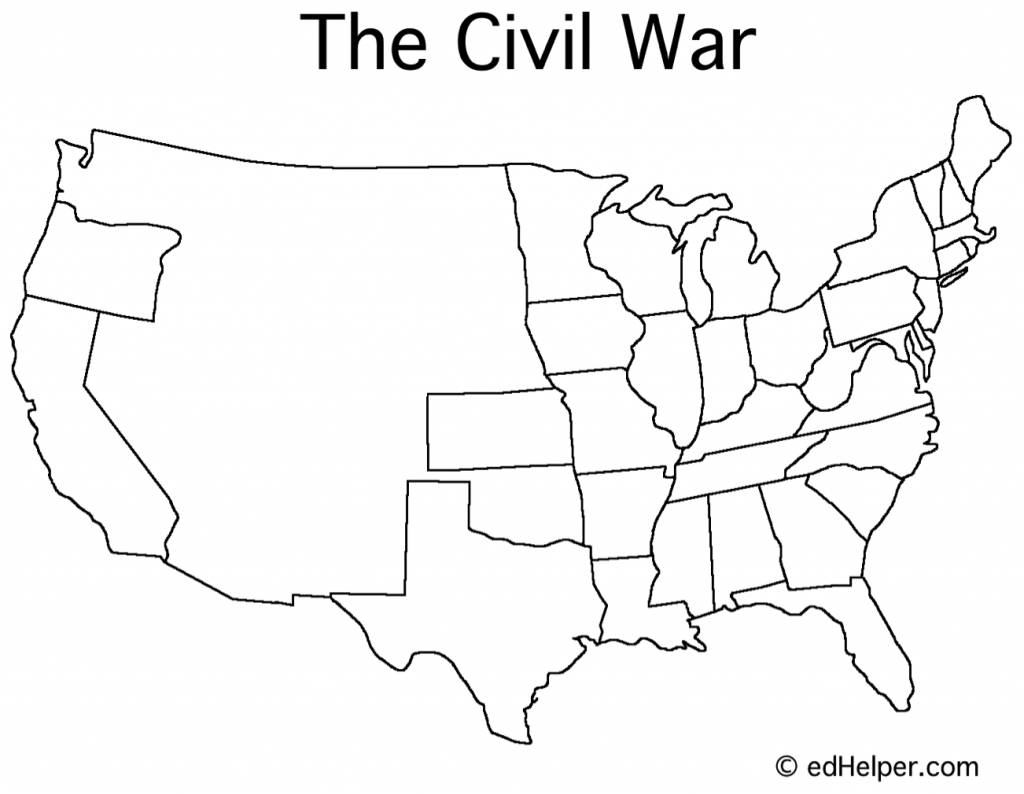 Blank Civil War Map | Doreen's Board | Map Worksheets, War, Map throughout Printable Civil War Map