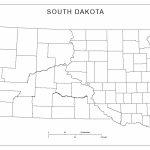 Blank County Map Of South Dakota With South Dakota County Map Printable