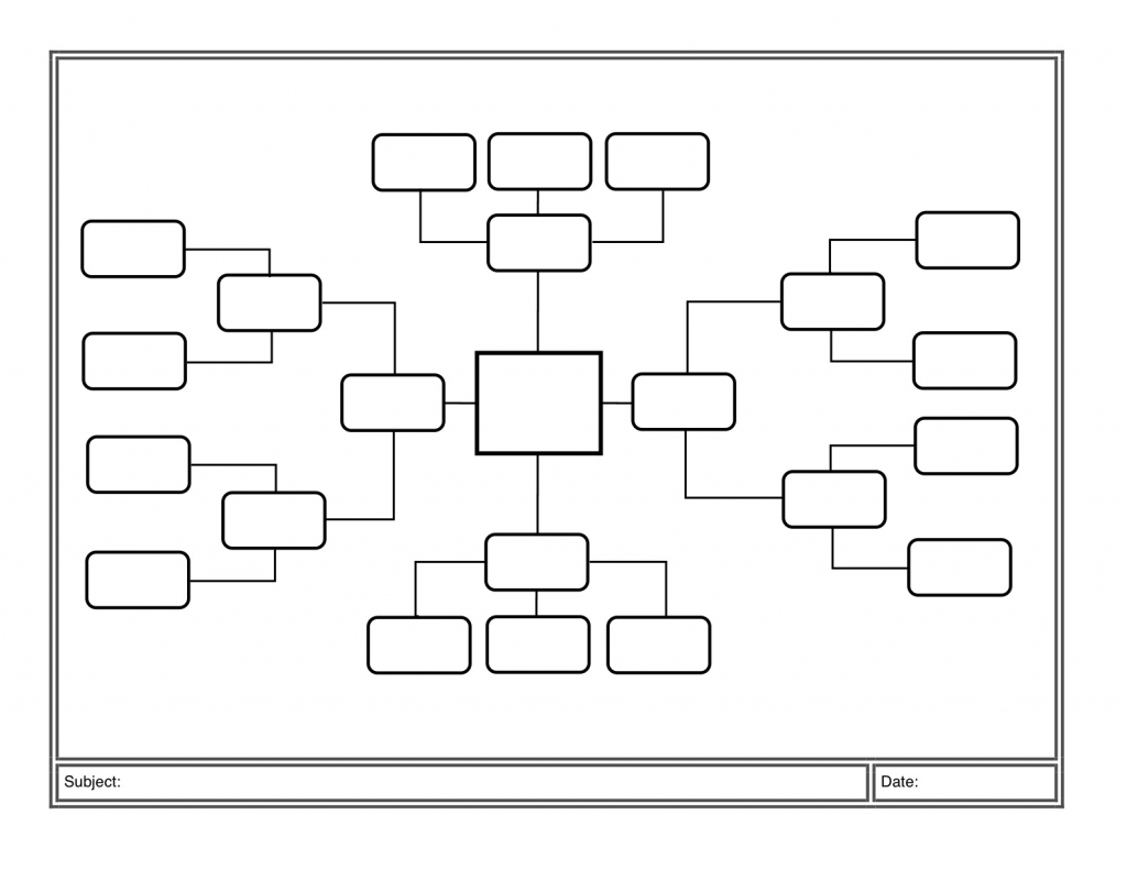 Blank Editable Concept Map - Hashtag Bg throughout Printable Concept Map