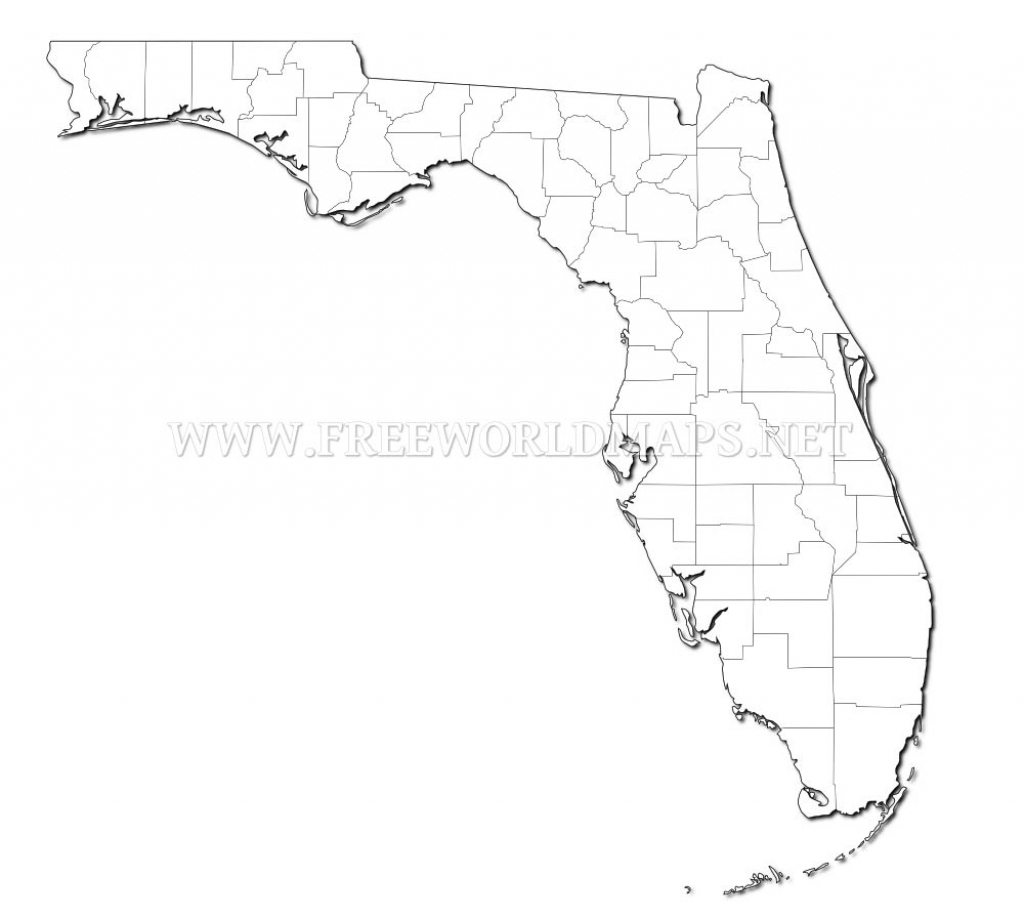 Blank Florida Map | Autobedrijfmaatje in Florida Map Outline Printable