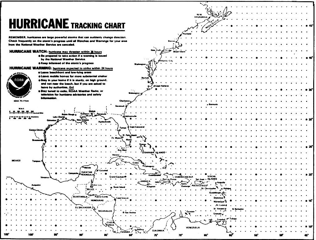 Blank Hurricane Tracking Chart | Hurricanes, Typhoons & Tropical inside Printable Hurricane Tracking Map