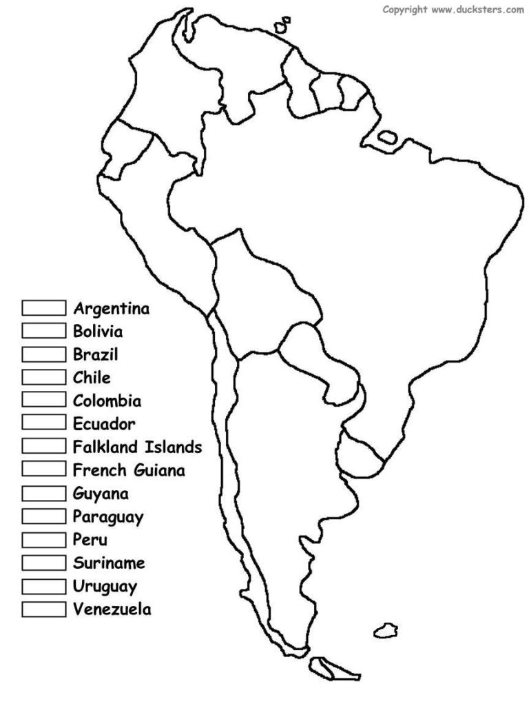 Blank Latin America Map Quiz Social Studies Pinterest Inside In For inside Latin America Map Quiz Printable