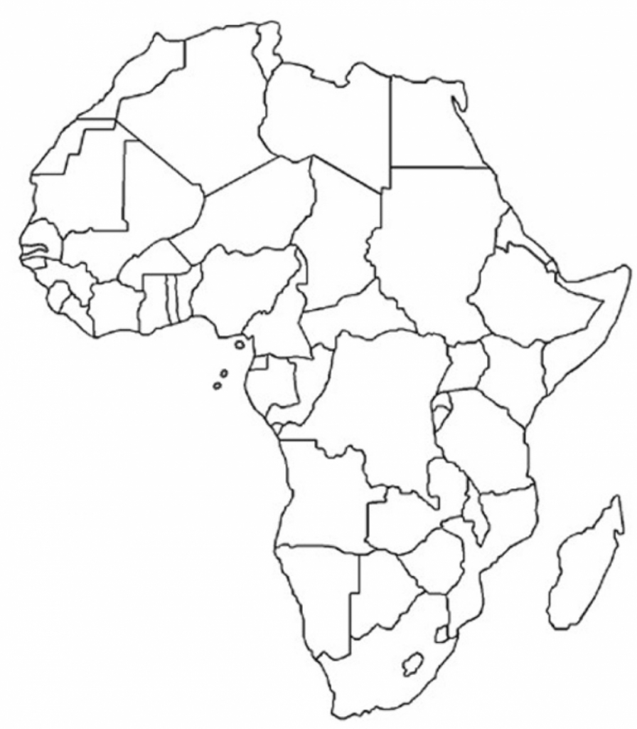 Blank Map Of Africa - Unit On African Music: Have The Kids Fill In for Blank Outline Map Of Africa Printable