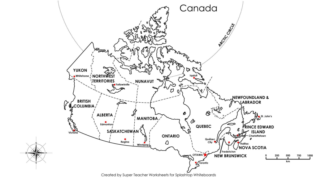 Blank Map Of Canada For Kids Fill In The Blanks 9 intended for Free Printable Map Of Canada For Kids