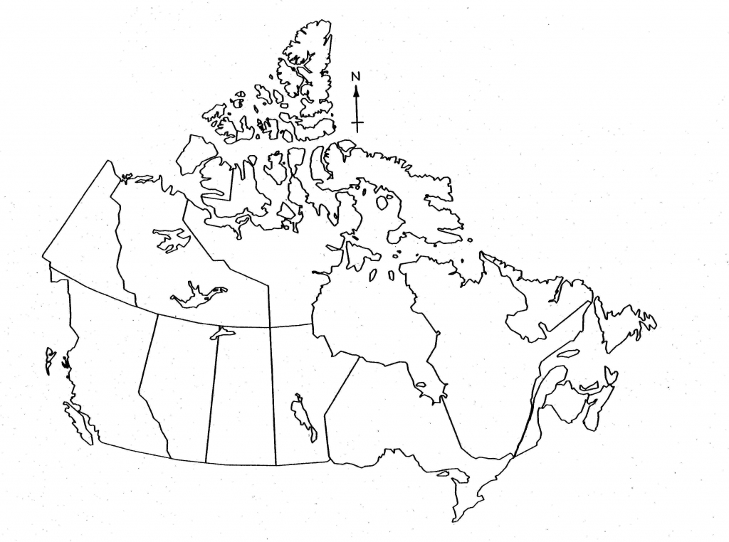 Blank Map Of Canada For Kids - Printable Map Of Canada For Kids throughout Printable Blank Map Of Canada