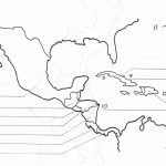 Blank Map Of Central America And Caribbean Islands   America Map Regarding Printable Blank Map Of Central America