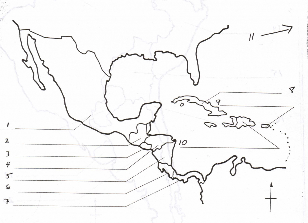 Blank Map Of Central America And Caribbean Islands - America Map regarding Printable Blank Map Of Central America