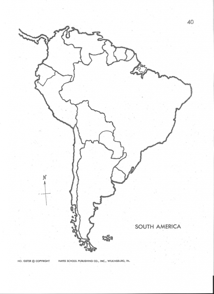 Blank Map Of Central And South America Printable And Travel with regard to Blank Map Of Latin America Printable