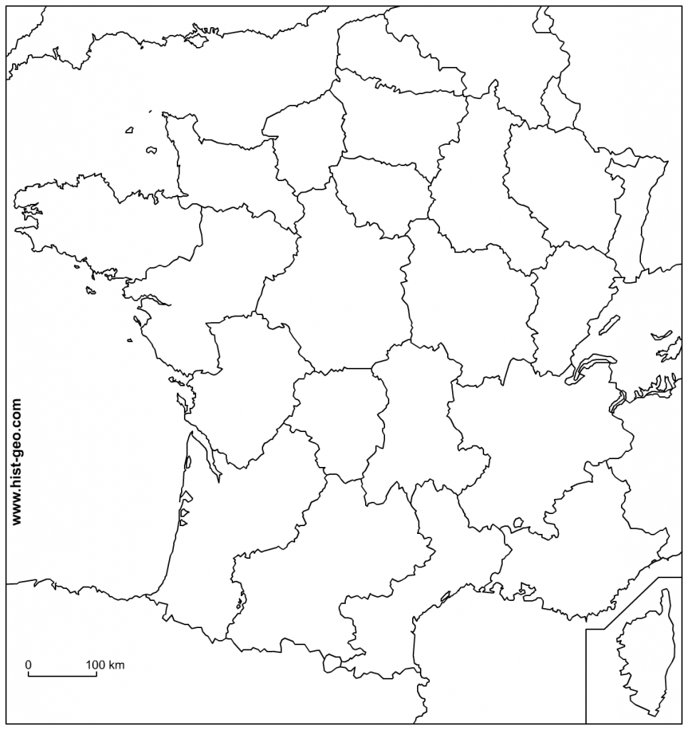 Blank Map Of France - Recana Masana inside Map Of France Outline Printable