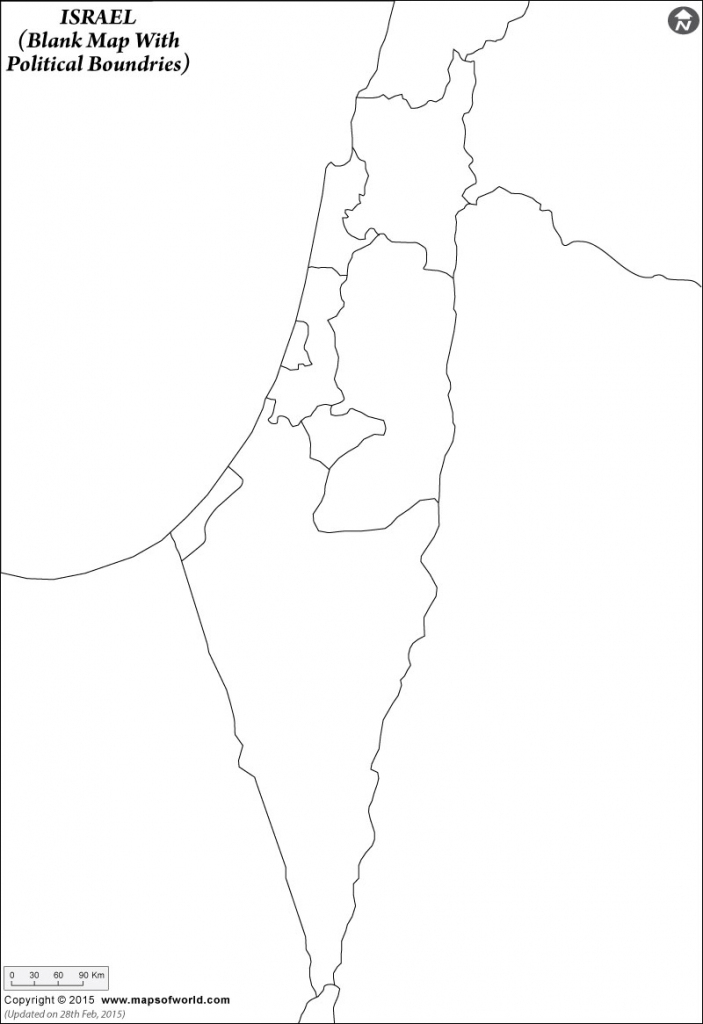 Blank Map Of Israel | Israel Outline Map inside Blank Map Israel Printable