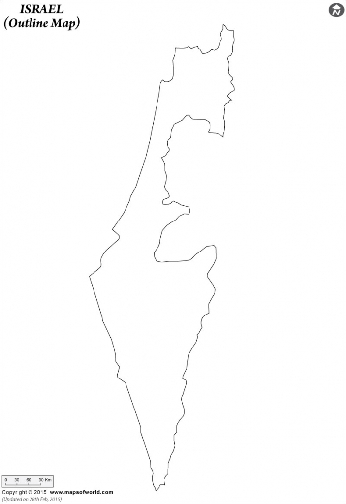 Blank Map Of Israel | Israel Outline Map regarding Israel Outline Map Printable