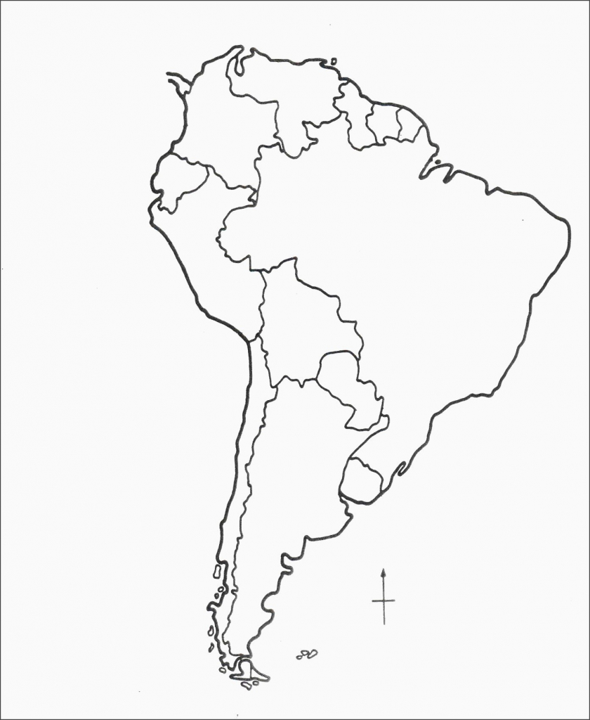 Blank Map Of Latin America - World Wide Maps within Printable Blank Map Of South America