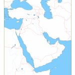 Blank Map Of Middle East | Cc Geography | Middle East Map, Map Regarding Printable Map Of Middle East