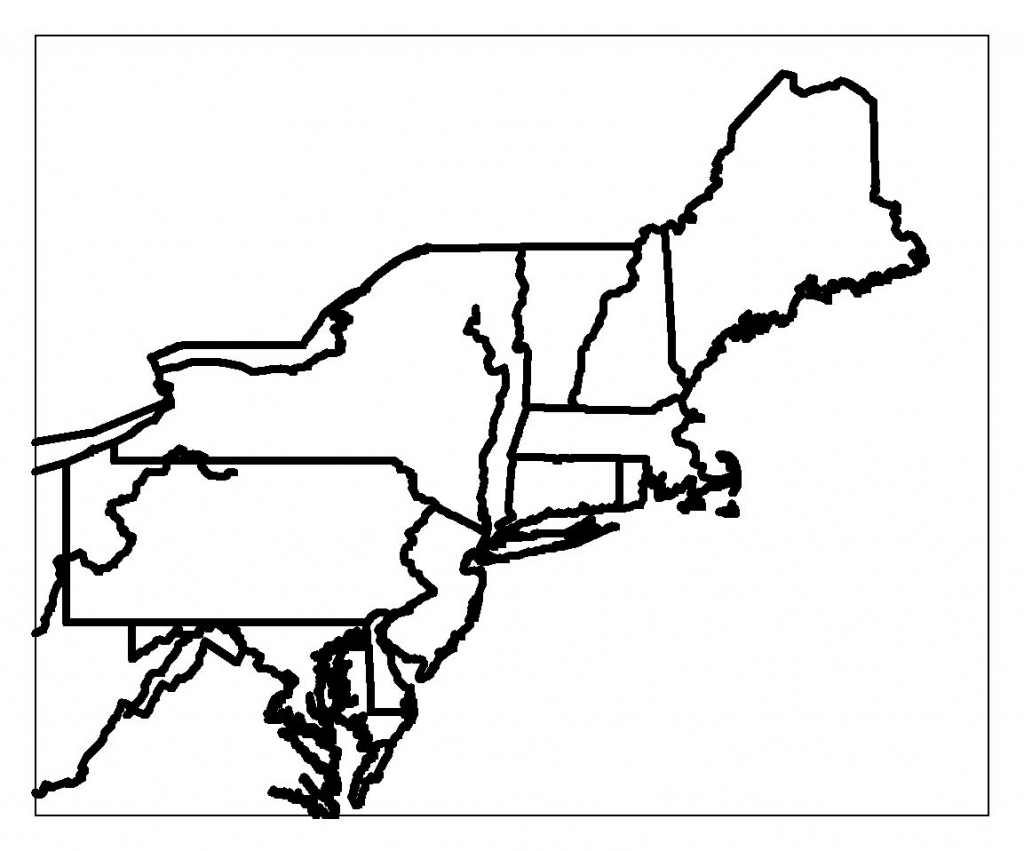 Blank Map Of Northeast Region States | Maps | Printable Maps, Us intended for Printable Map Of The Northeast