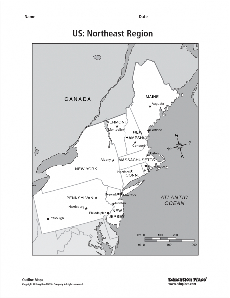 Blank Map Of The Northeast Region Of The United States And Travel pertaining to Printable Map Of North Eastern United States