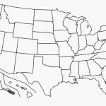 Blank Map Of The United States Of America Save United States Map Intended For Free Printable Blank Map Of The United States