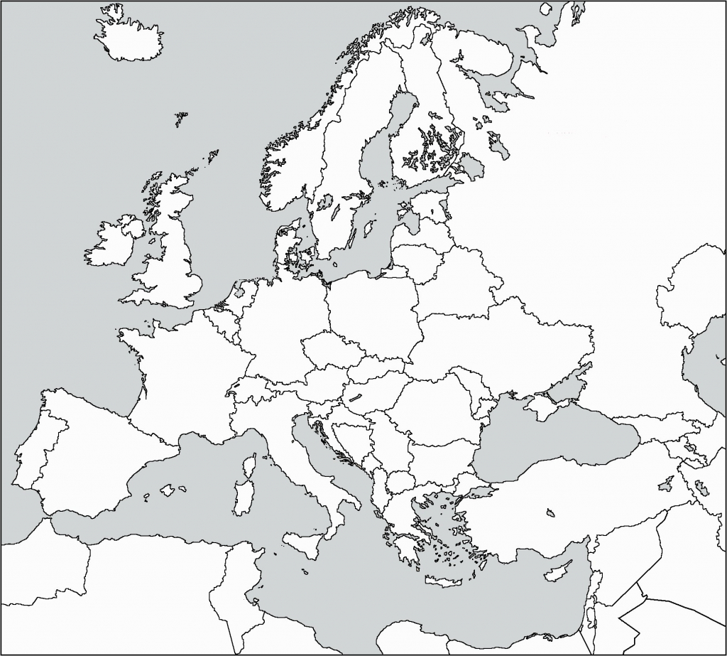Blank Map Of Western Europe - World Wide Maps in Printable Blank Map Of Europe