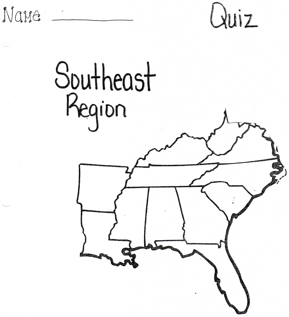 Blank Map South Subway State The Southeast Region For Us With Cities with regard to Southeast States Map Printable