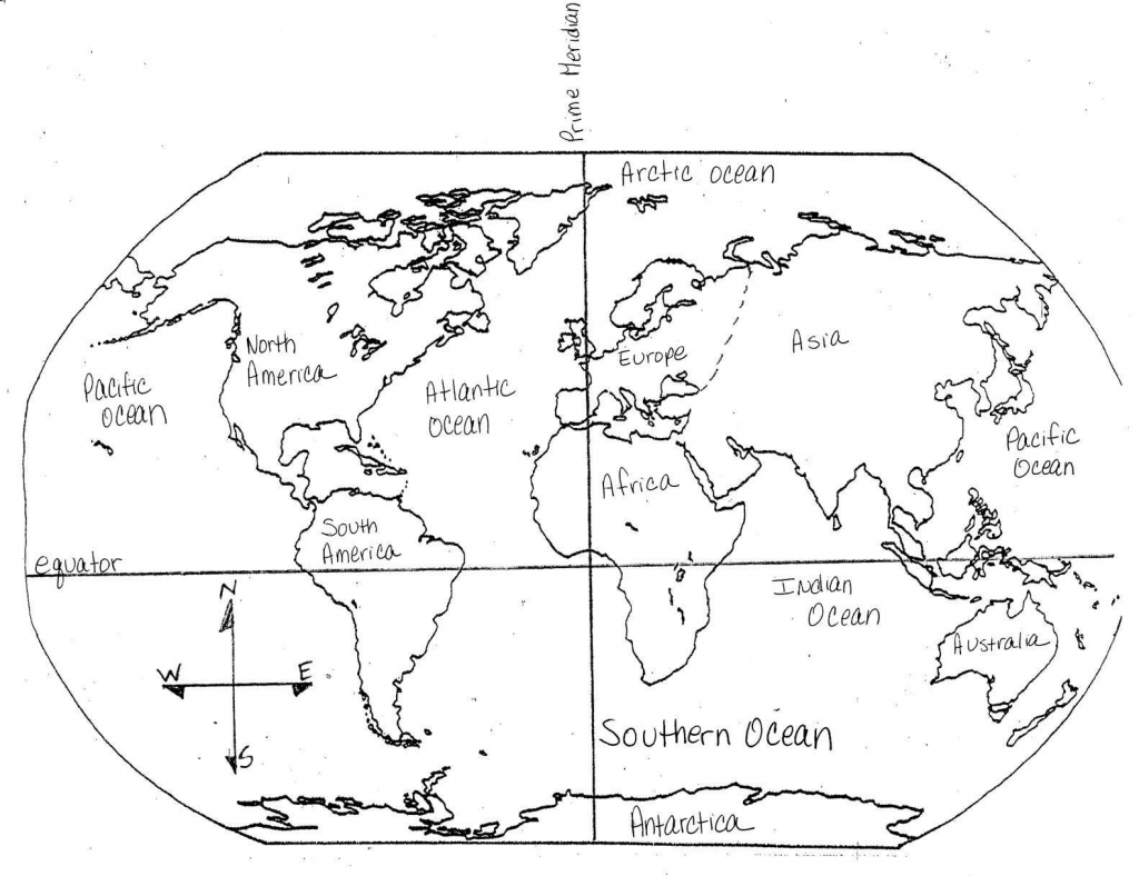 Blank Maps Of Continents And Oceans And Travel Information regarding Continents And Oceans Map Quiz Printable