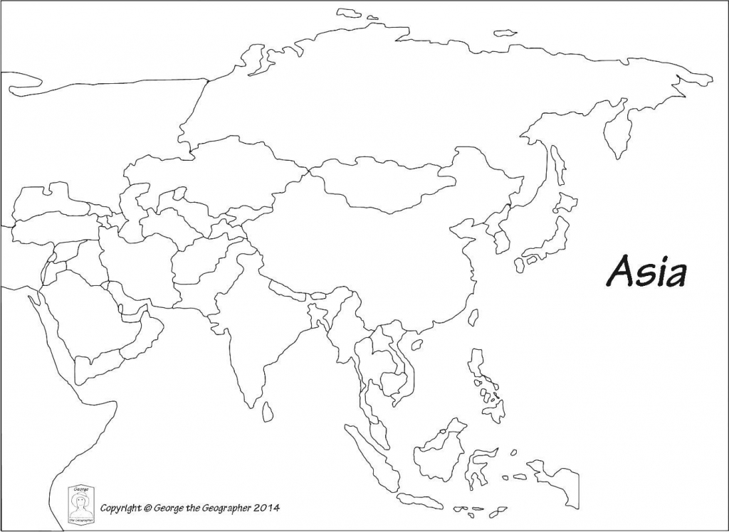 Blank Outline Map Of Asia Printable 0 - World Wide Maps regarding Blank Map Of Asia Printable