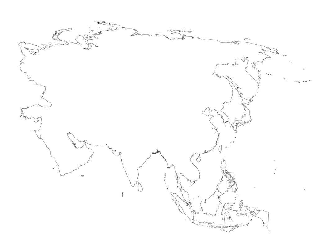 Blank Outline Map Of Asia Printable 8 - World Wide Maps with regard to Blank Outline Map Of Asia Printable