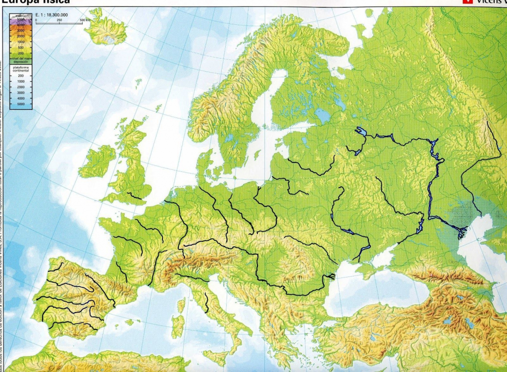 Blank Physical Map Of Europe | Geography And History Blog : 3º pertaining to Printable Blank Physical Map Of Europe