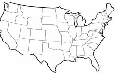Blank Us Map With State Outlines Printable