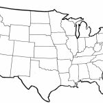 Blank Political Map Of The United States Within Printable Blank Us Map With State Outlines