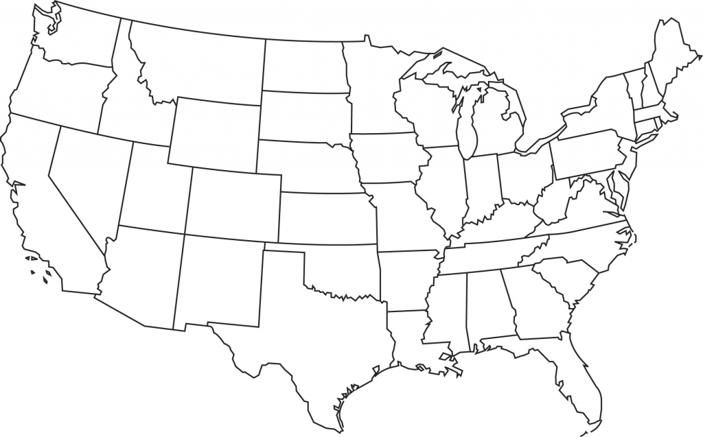Blank Printable Map Of The Us Clipart Best Clipart Best   Centers pertaining to Printable Usa Map Outline