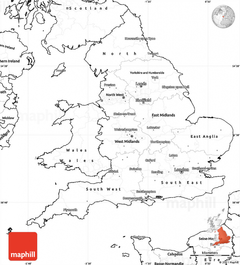 Blank Simple Map Of England inside Uk Map Outline Printable