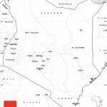 Blank Simple Map Of Kenya inside Printable Map Of Kenya