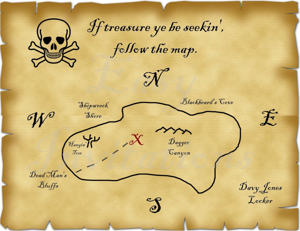 Blank Treasure Map | Ageorgio intended for Blank Treasure Map Printable
