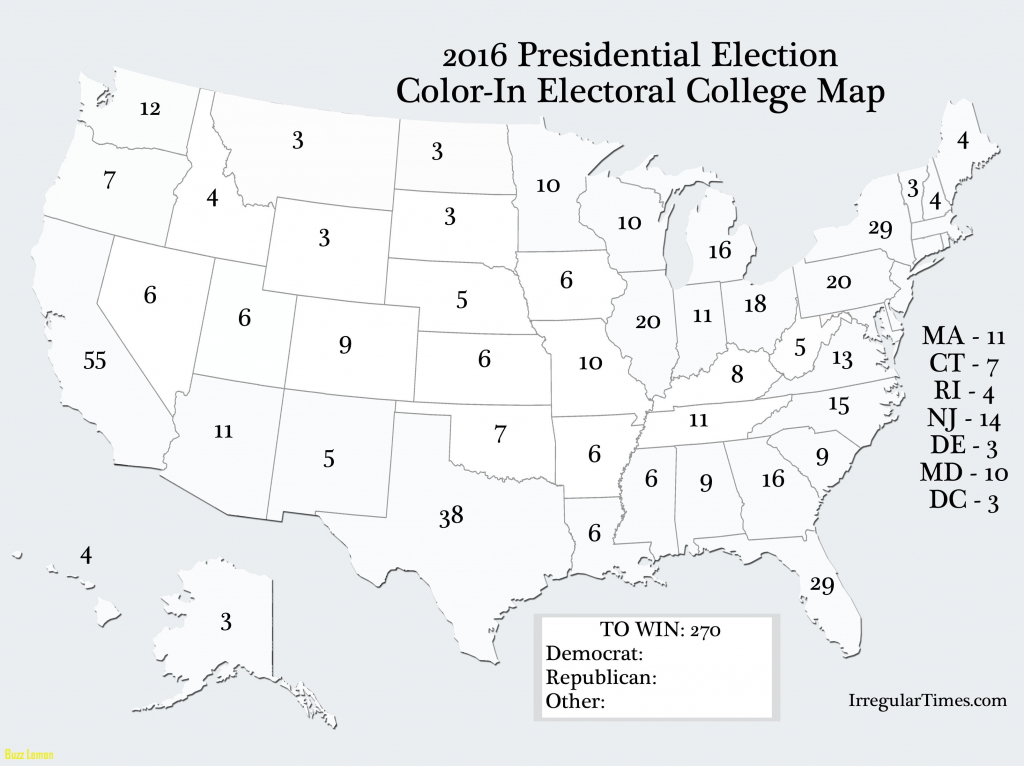 Blank Us Map Electoral College Cnn Blank Map Best Of Top Us Election pertaining to Blank Electoral College Map 2016 Printable