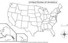 Blank Us State Map Printable