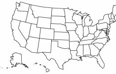 Map Of Us Blank Printable