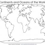 Blank World Map Continents   Ajan.ciceros.co With Continents And Oceans Map Quiz Printable