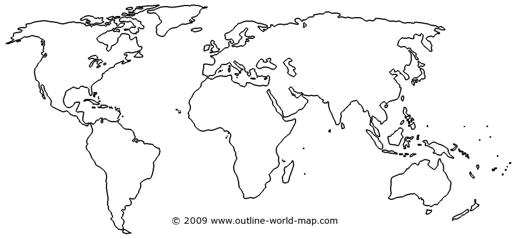 Blank World Map Image With White Areas And Thick Borders - B3C   Ecc inside Blank World Map Printable