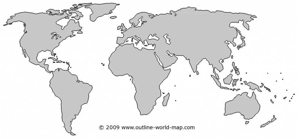 Blank World Map Images With Solid Colors | Outline World Map Images inside World Map Outline Printable