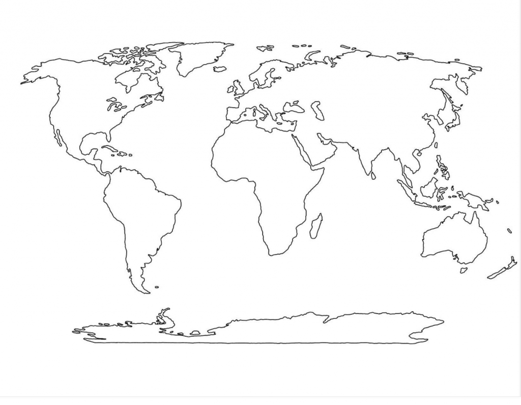 Blank World Map Pdf - Free Maps World Collection for World Map Outline Printable Pdf