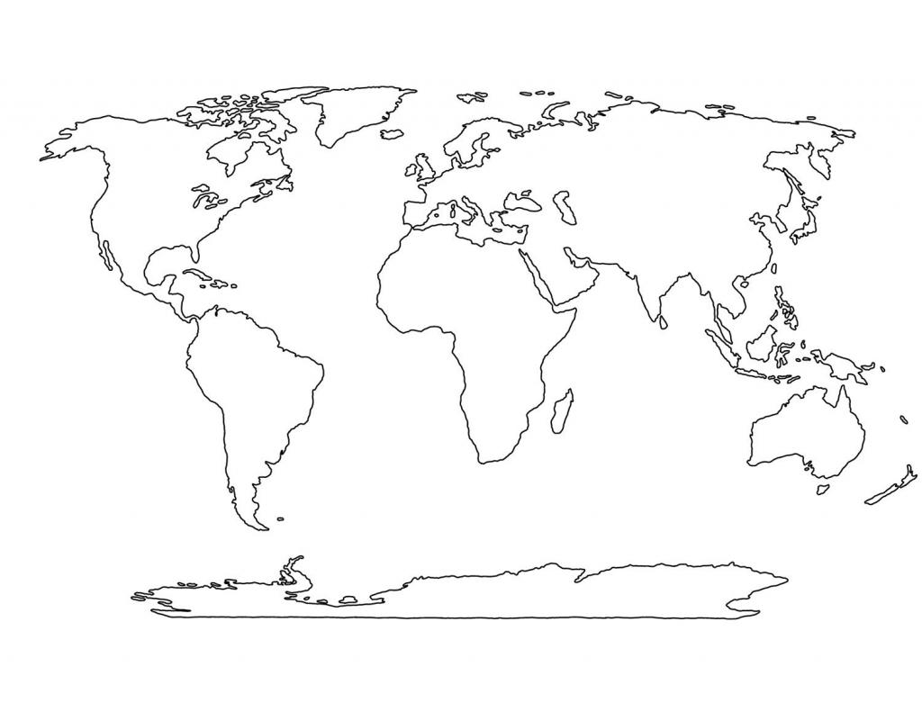 Blank World Map Printable | Social Studies | World Map Template for Blank Map Printable World