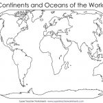 Blank World Map To Fill In Continents And Oceans Archives 7Bit Co Intended For World Map Oceans And Continents Printable