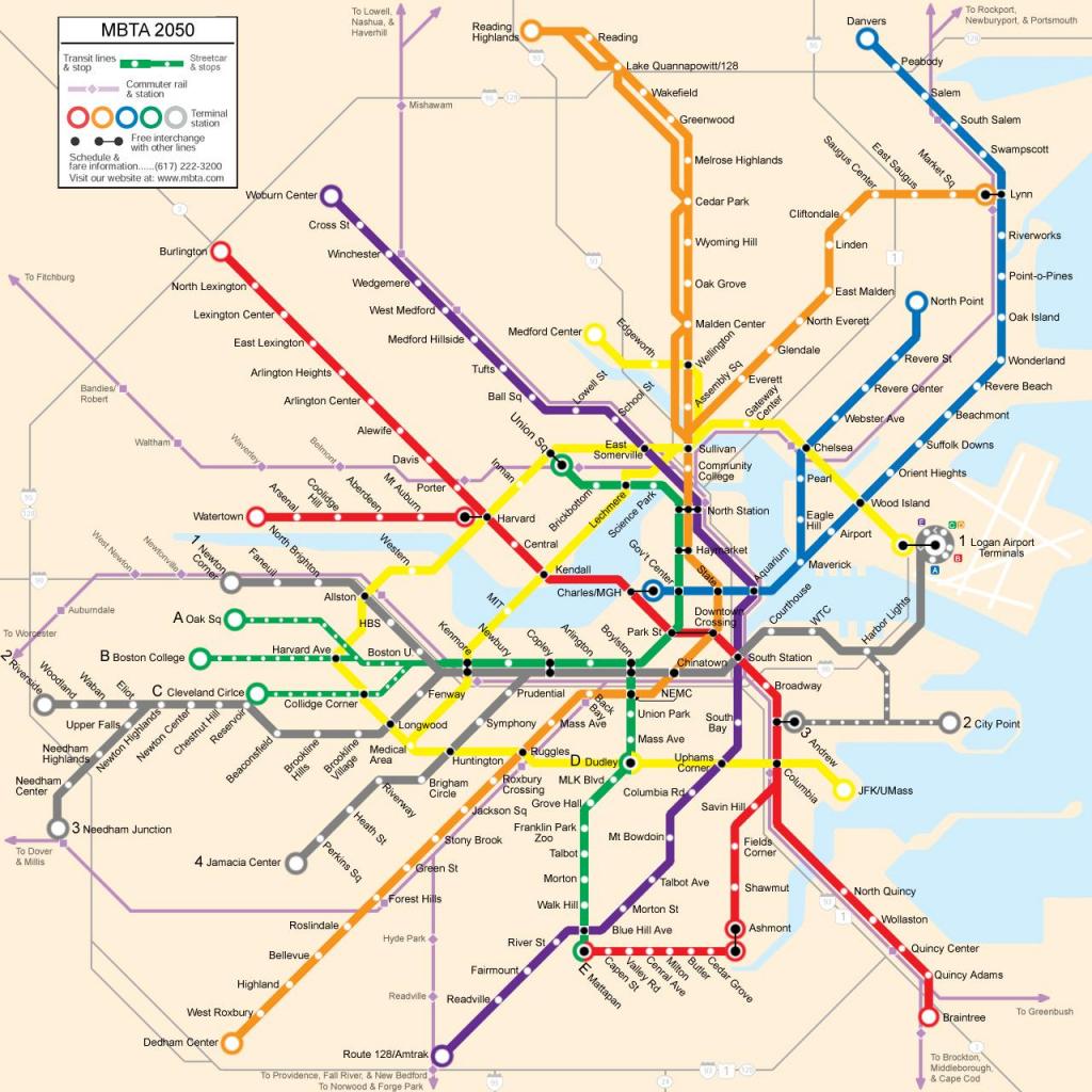 Blue Line Boston Map | Afputra throughout Mbta Subway Map Printable