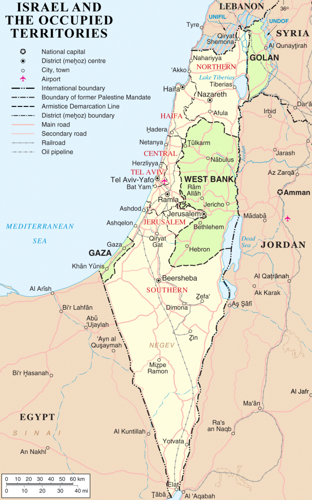 Borders Of Israel - Wikipedia with regard to Printable Map Of Israel Today