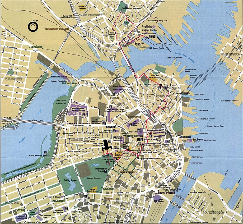Boston - Google Search | The Beanboston Love In 2019 | Boston Map for Freedom Trail Map Printable