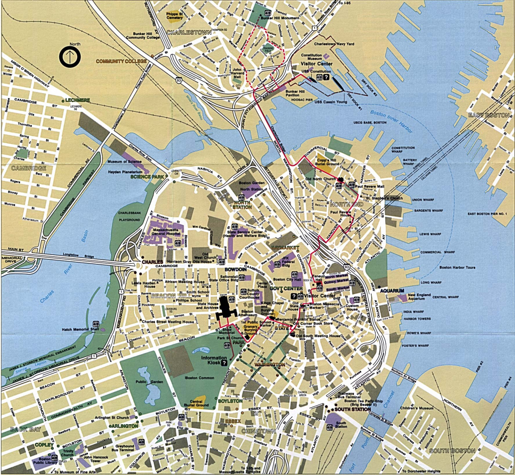 Boston Map - Detailed City And Metro Maps Of Boston For Download for Boston Tourist Map Printable