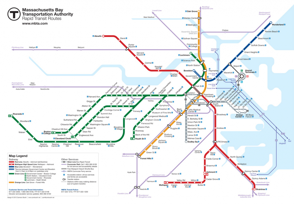 Boston Subway Map ~ Map Of The World Map with regard to Mbta Subway Map Printable