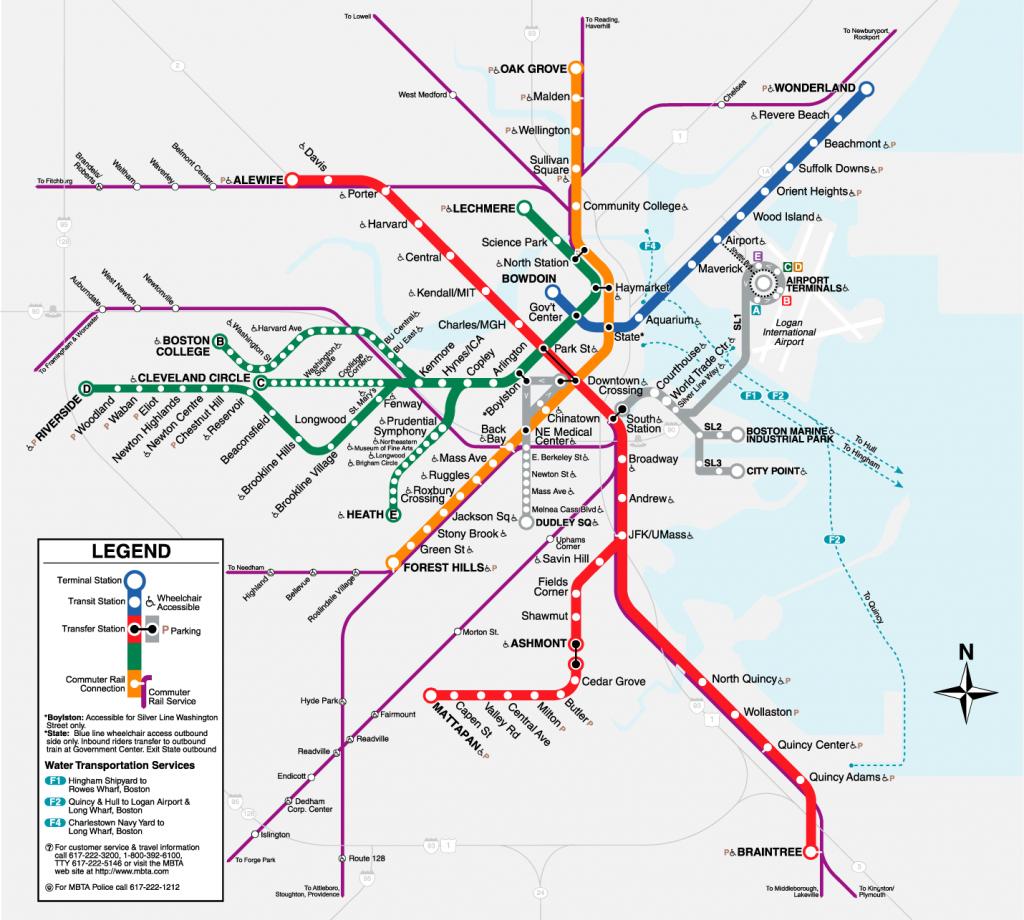 Boston T Map | Metro Maps | Bus Route Map, Moving To Boston, Rapid with regard to Mbta Subway Map Printable