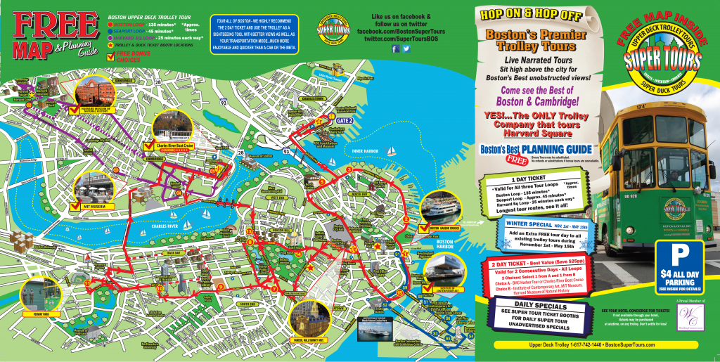 Boston Tourist Attractions Map - Aishouzuo - Boston Tourist Map with regard to Printable Map Of Boston Attractions