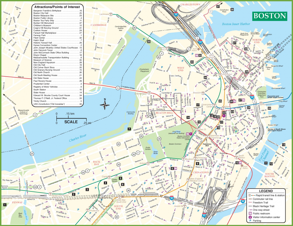 Boston Tourist Attractions Map - Boston Tourist Map Printable in Printable Map Of Boston